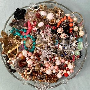 Craft Repair Repurpose Vintage Junk Jewelry Beads Material Lot 5 lbs